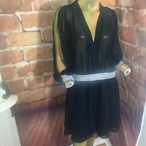 ASOS black and silver dress size 14